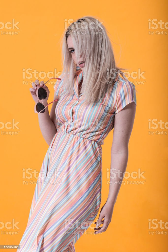 young fashionable woman posing royalty-free stock photo