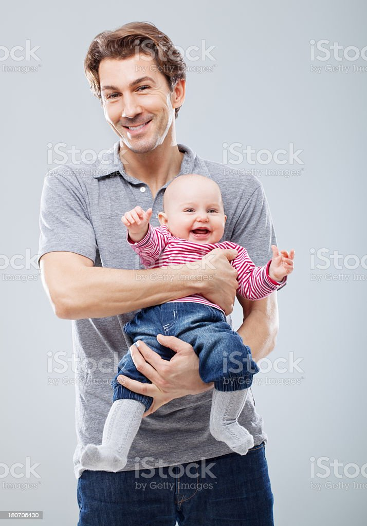 Young father and baby child royalty-free stock photo