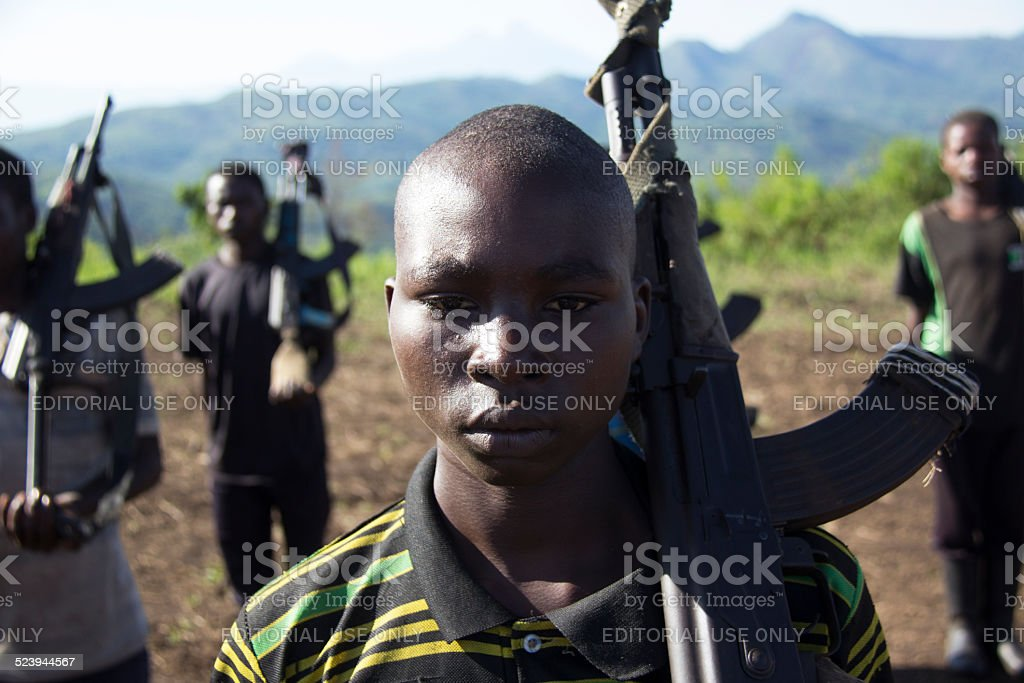 Young FDLR Soldier stock photo