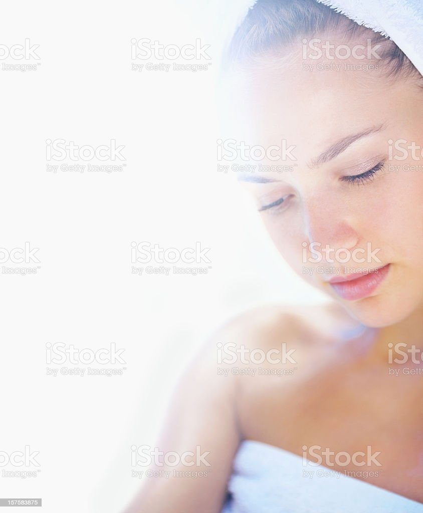 Young female before a spa treatment royalty-free stock photo