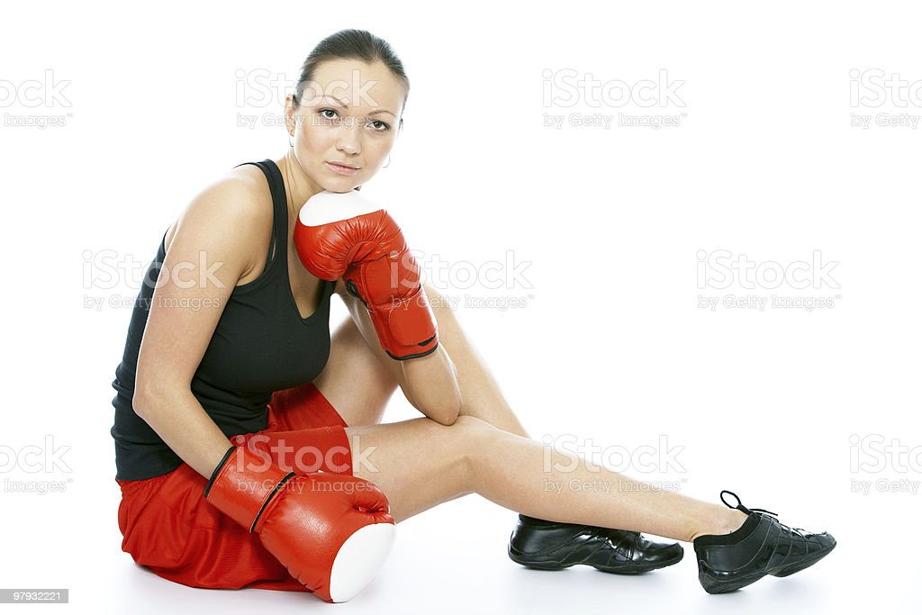 young female boxer royalty-free stock photo