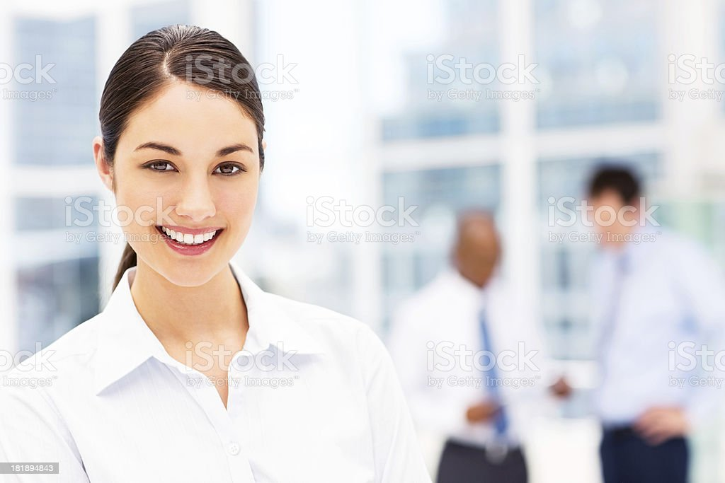 Young Female Business Executive Smiling royalty-free stock photo