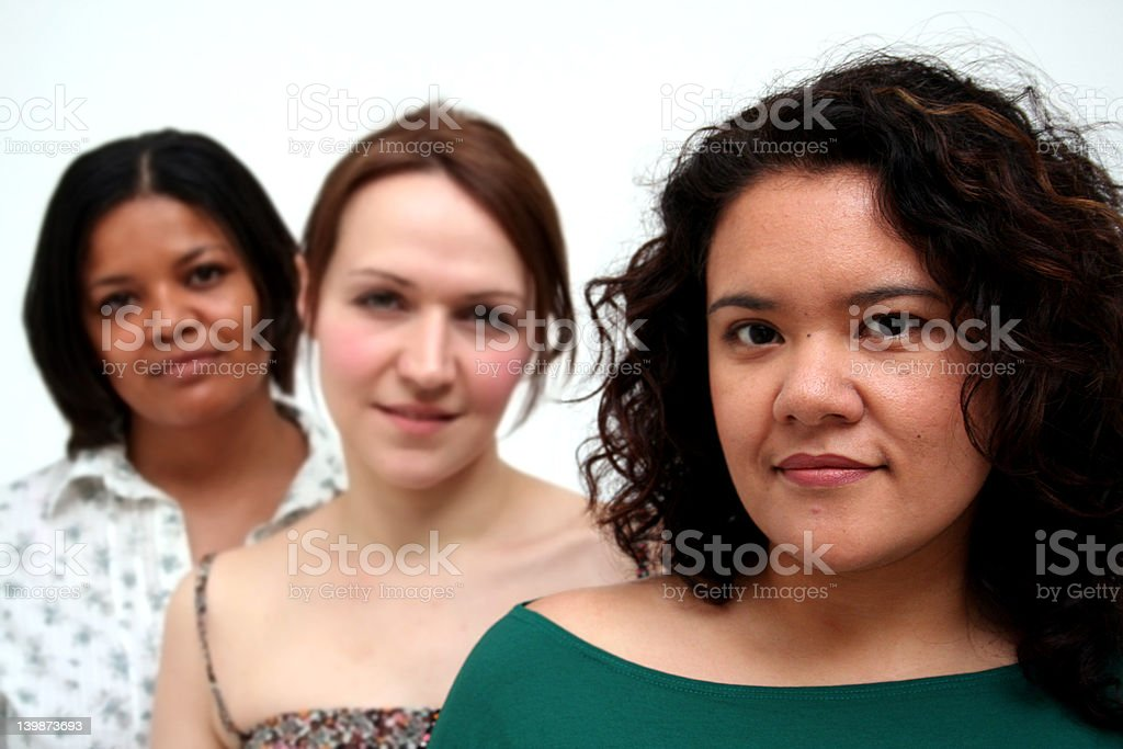 Young female business workers royalty-free stock photo