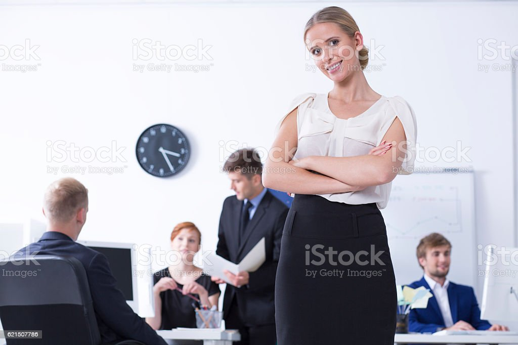 Young female businesswomen at work foto stock royalty-free