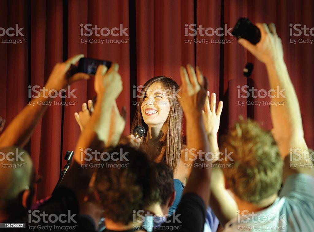 Young Female Celebrity Entertaining royalty-free stock photo