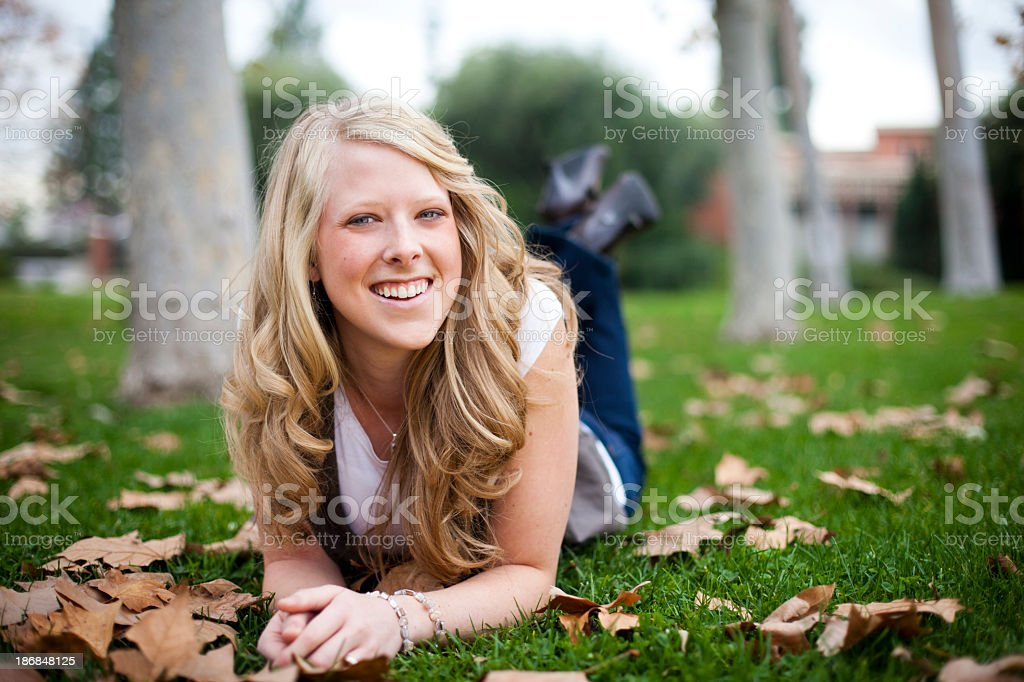 Young Female College Student stock photo