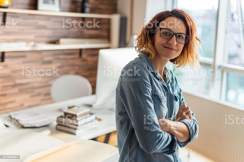 Young female entrepreneur stock photo