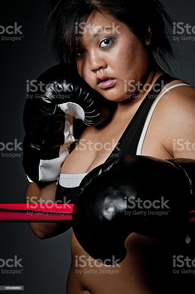 Young Female Fighter stock photo