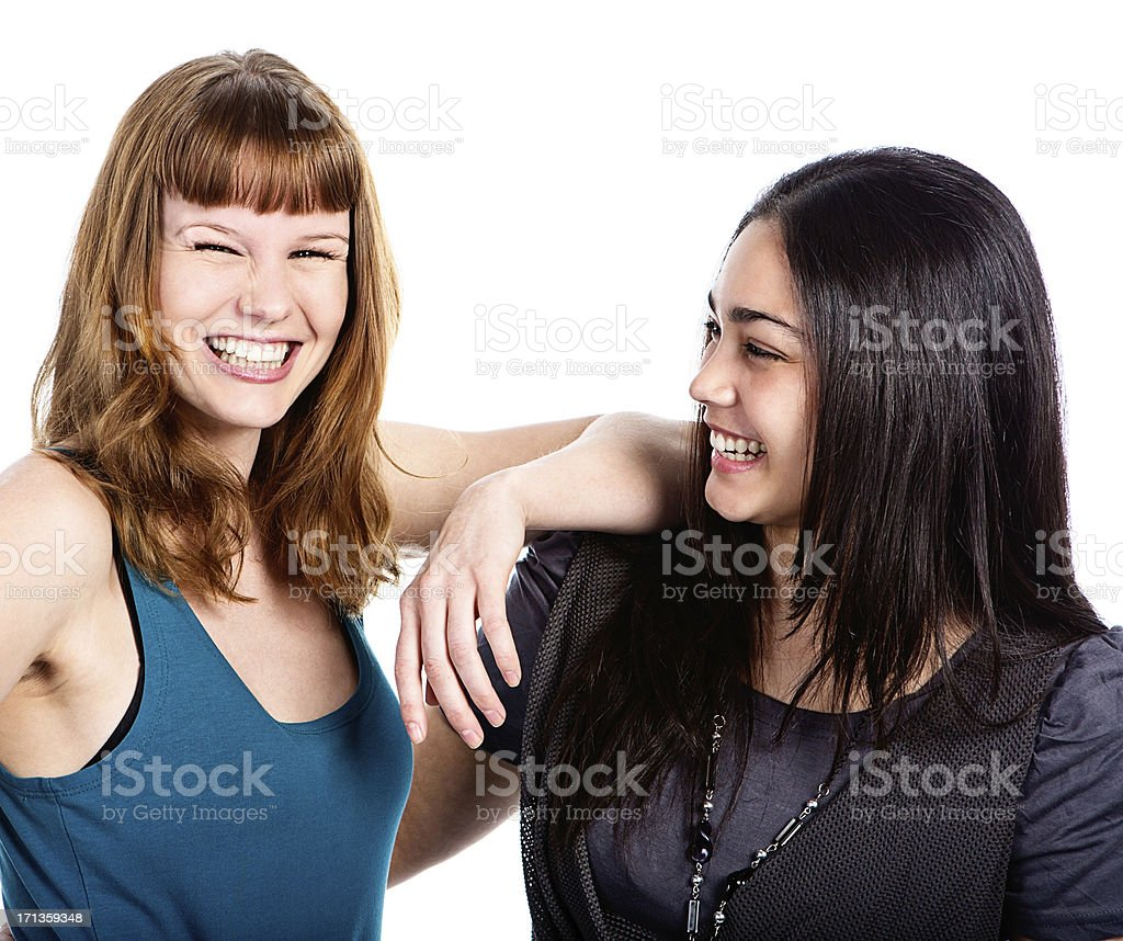 Young female friends royalty-free stock photo