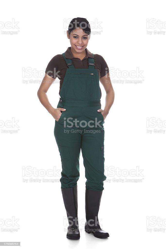 Young Female Gardner stock photo