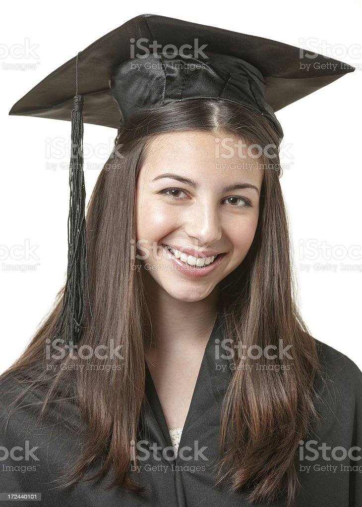 Young female graduate royalty-free stock photo