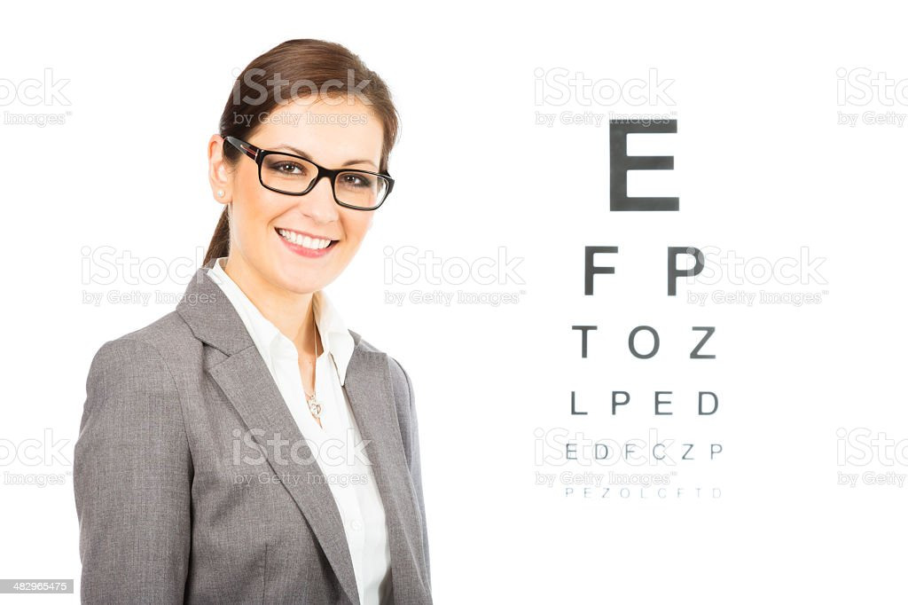 young female optician royalty-free stock photo