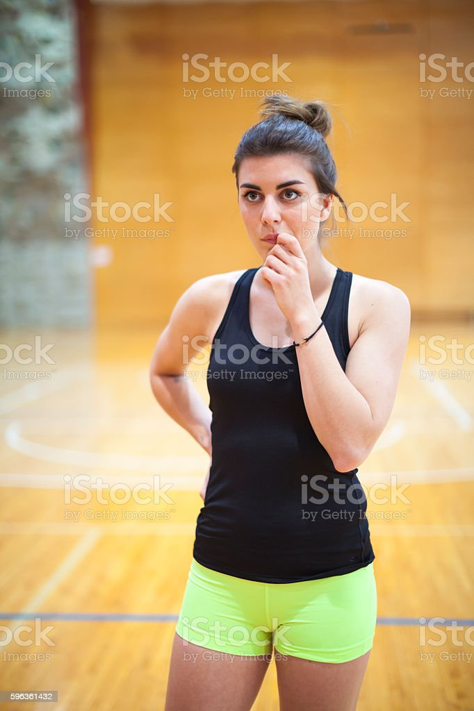 Young Female Portrait in Gym royalty-free stock photo