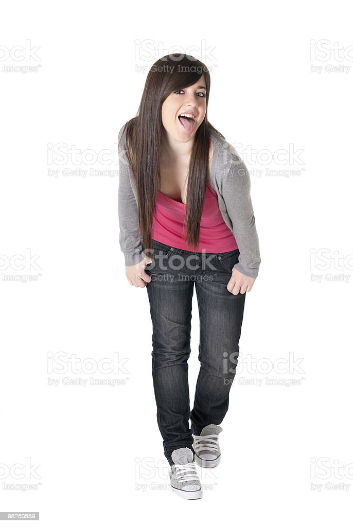 Young female razz cheerful isolated royalty-free stock photo