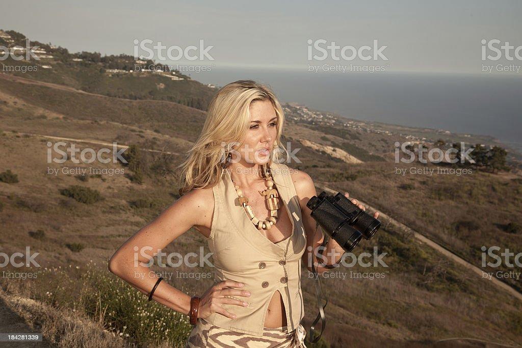 Young  Female Safari Model stock photo