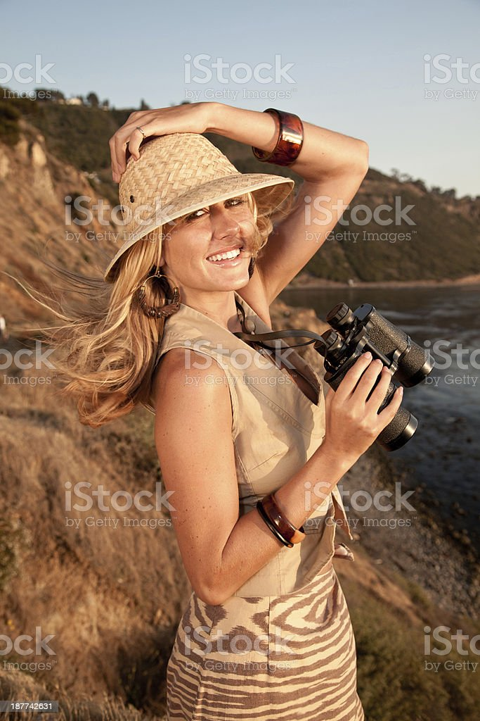 Young  Female Safari Model royalty-free stock photo