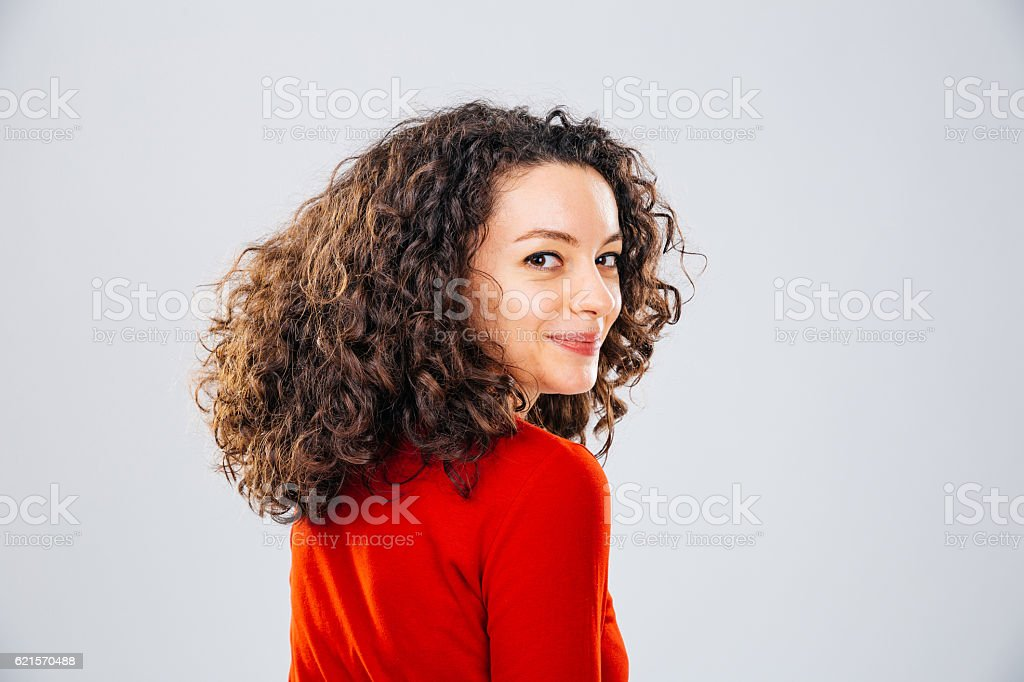 Young female smiling to the camera photo libre de droits