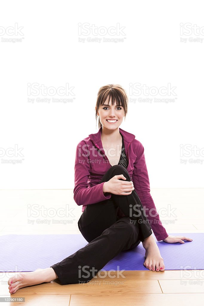 Young female stretching royalty-free stock photo