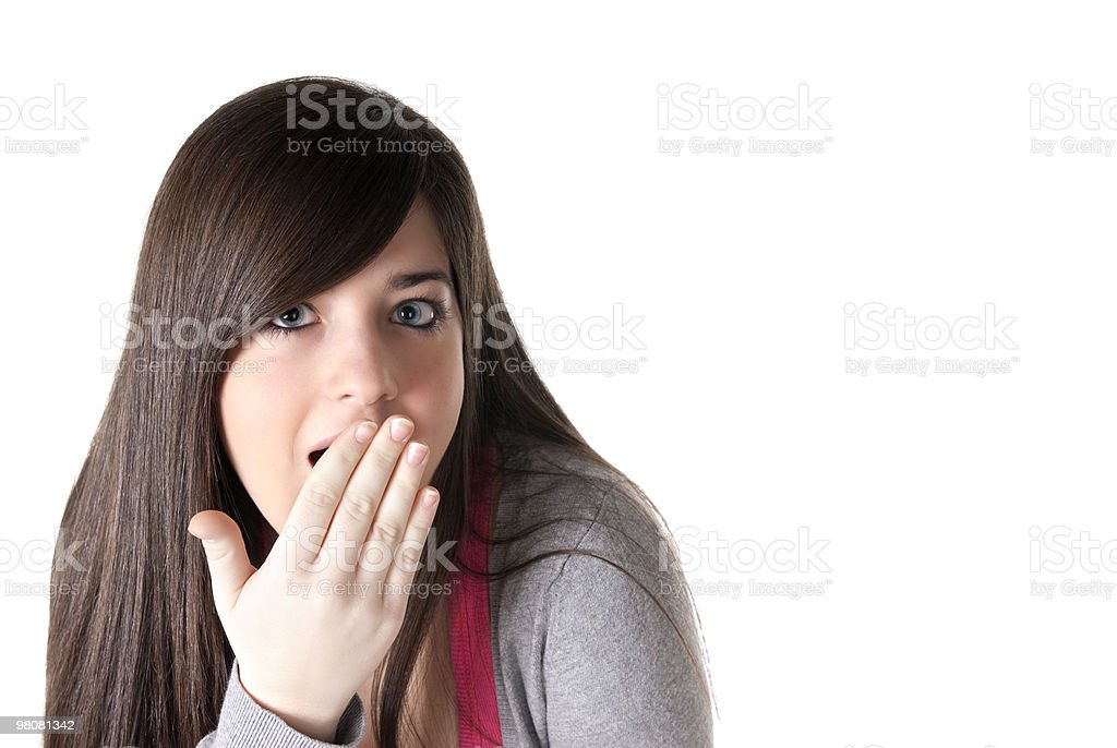 Young female surprised isolated royalty-free stock photo
