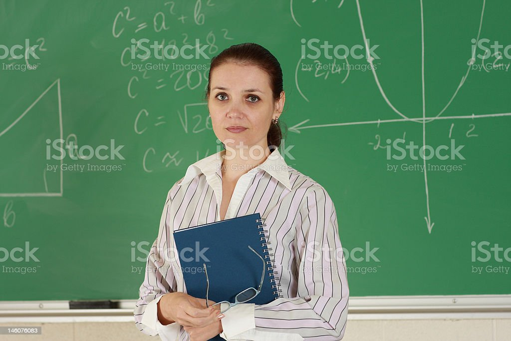 Young female teacher royalty-free stock photo