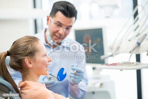 istock Young Female Teenager getting Invisalign 468984038