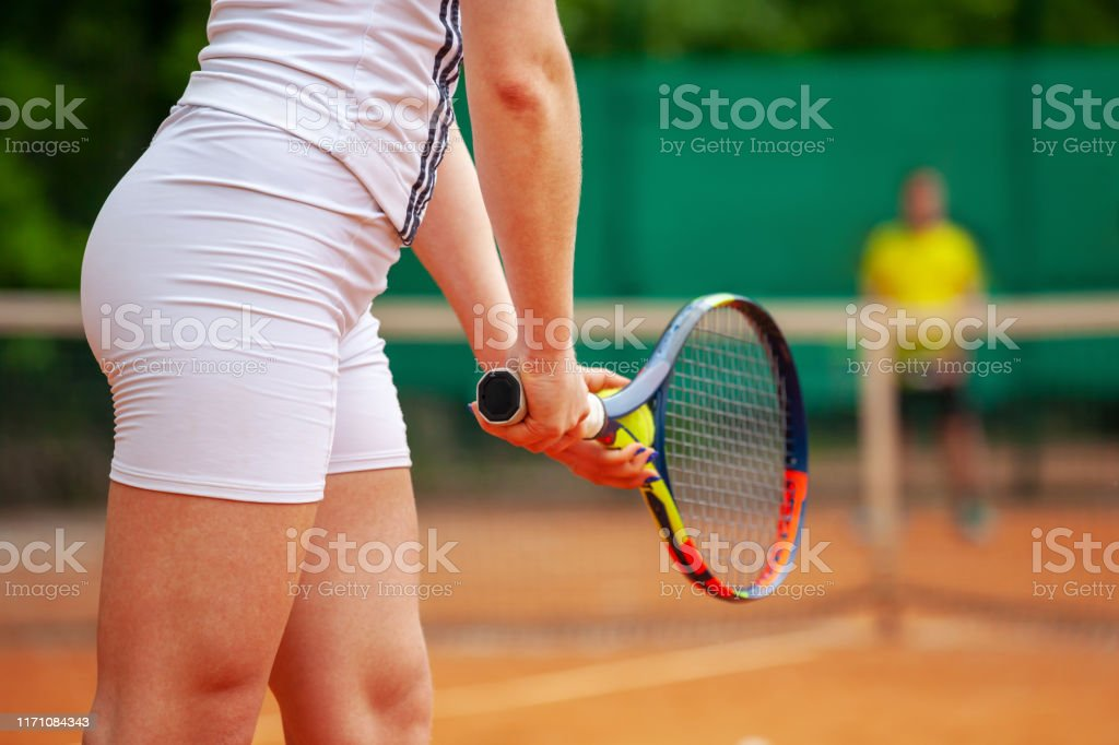 Tennis player no panties