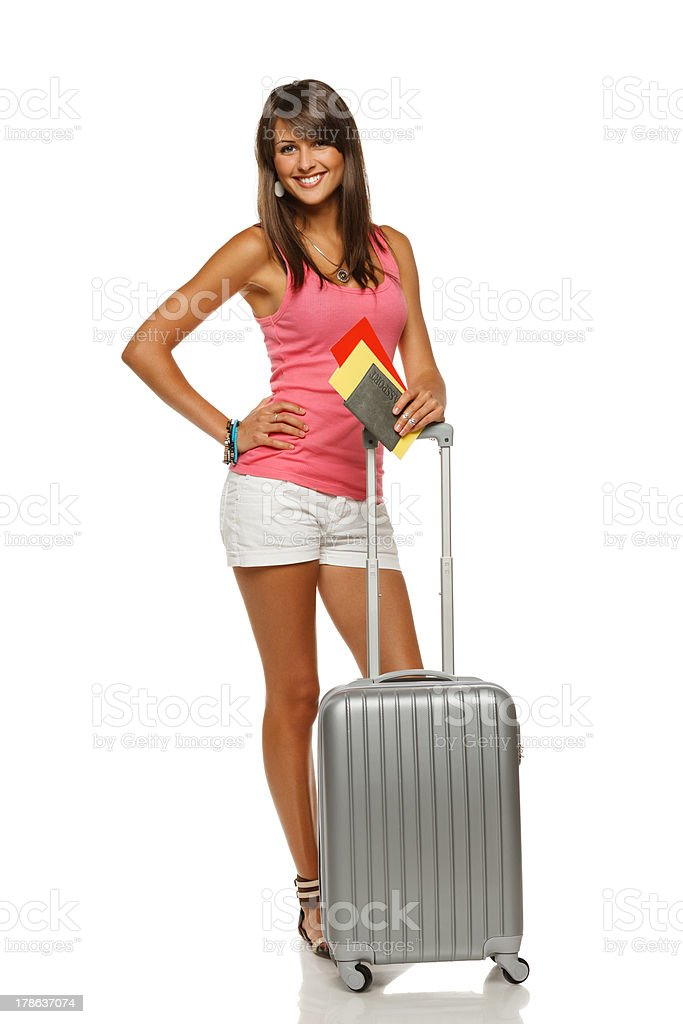 Young female tourist royalty-free stock photo