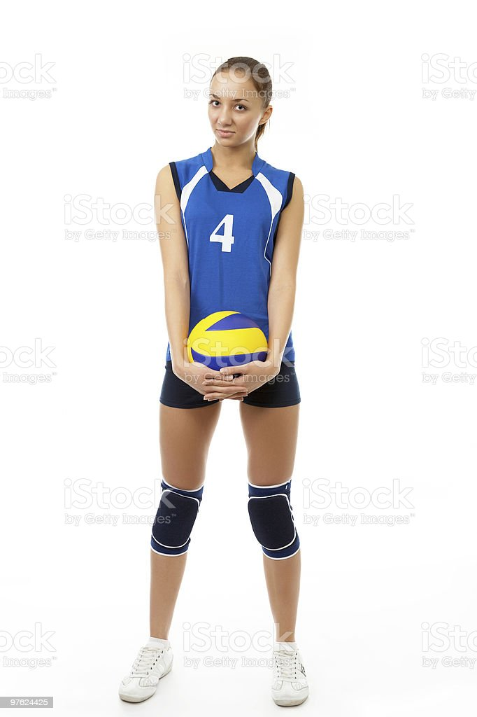 young female volleyball player royalty-free stock photo