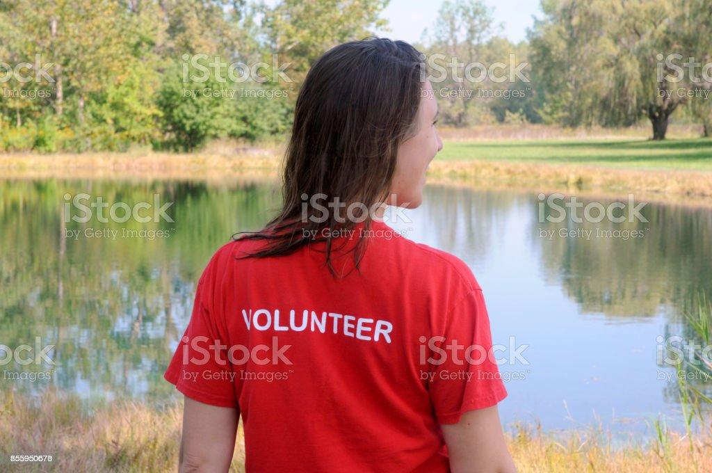 Young Female Volunteer stock photo