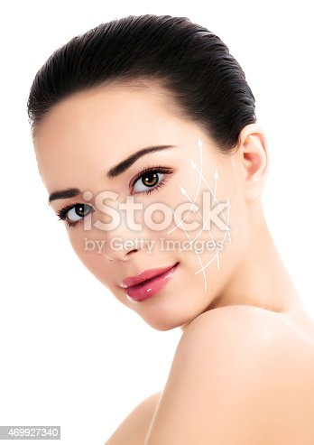 istock Young female with clean fresh skin 469927340