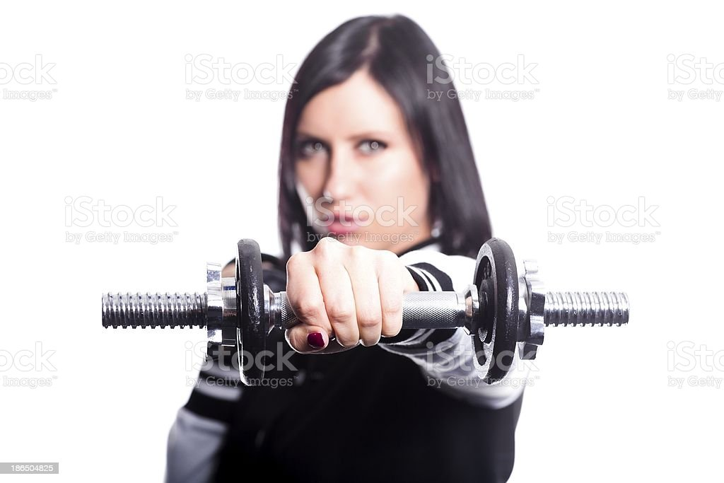 Young female working out royalty-free stock photo