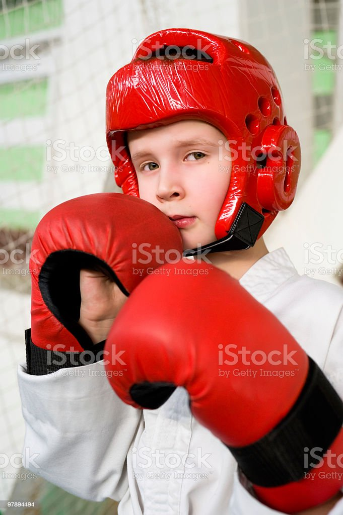 young fighter boy royalty-free stock photo