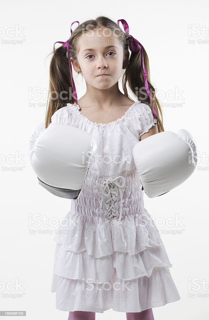 young fighter girl royalty-free stock photo