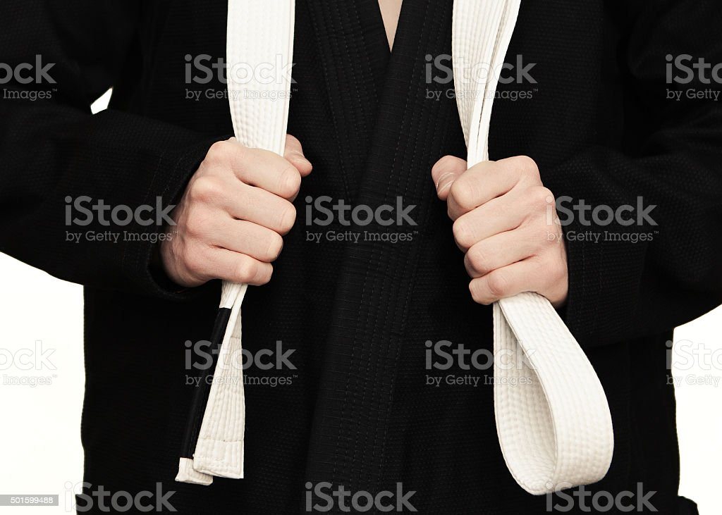 Young fighter stock photo