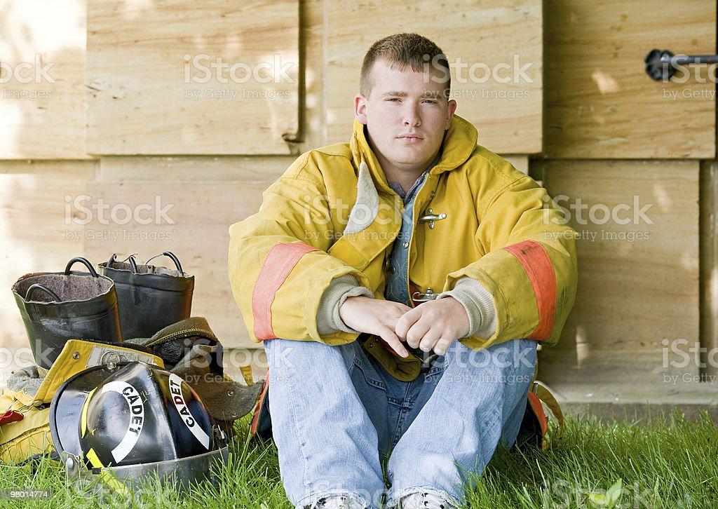 Young Fireman royalty-free stock photo