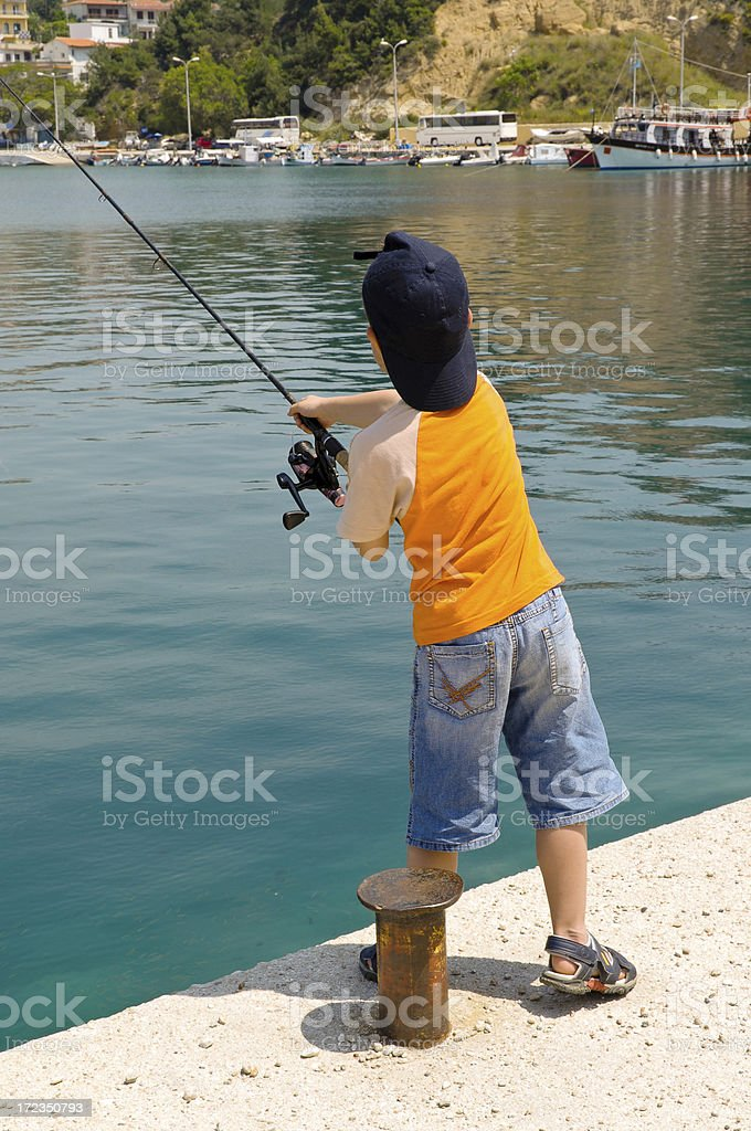 Young fisherman royalty-free stock photo