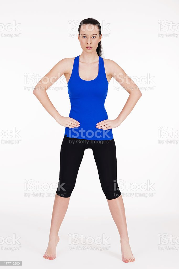 Young fit woman royalty-free stock photo