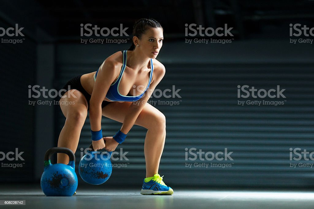 Young fit woman stock photo
