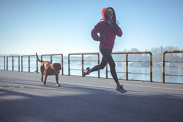 Young fit woman running with her dog on the riverbank picture id499882996?b=1&k=6&m=499882996&s=612x612&w=0&h=hyiw7hdbpedku5p60fikbmkp0kvorejox0bvlsrxyrw=