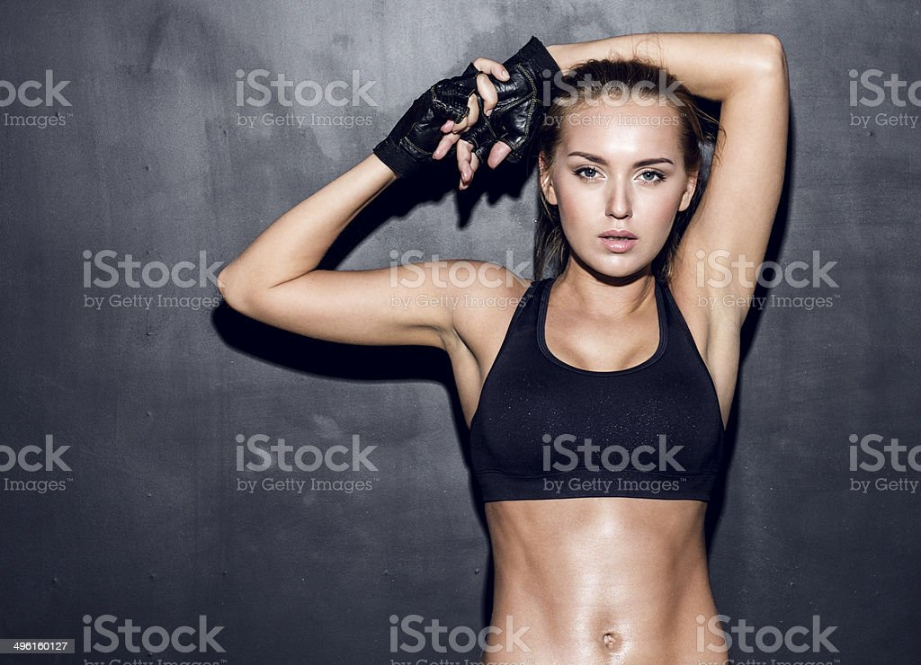 young fitness woman royalty-free stock photo