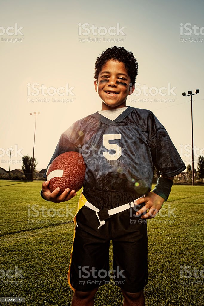 Young Flag Football Player stock photo