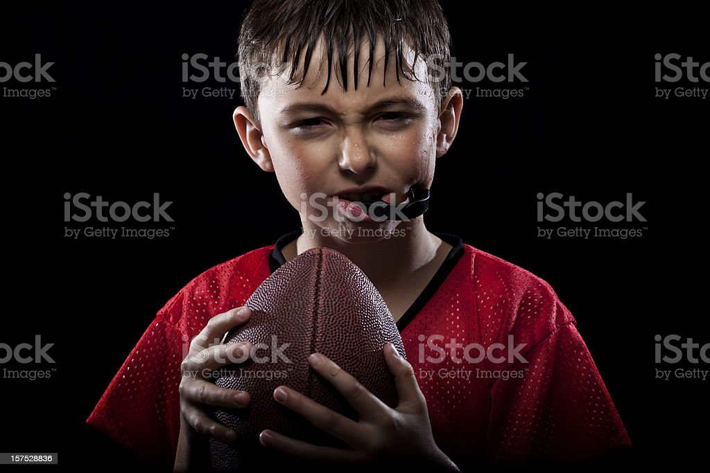 Young football player royalty-free stock photo