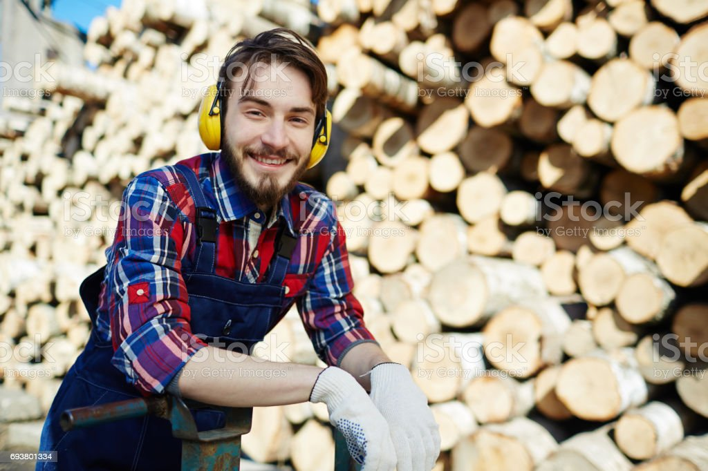 Young forester stock photo
