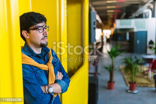 1040964880 istock photo Young freelancer in his cool office 1163334236