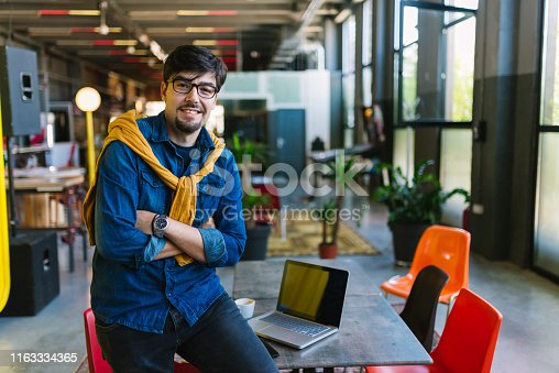 1040964880 istock photo Young freelancer in his cool office 1163334365