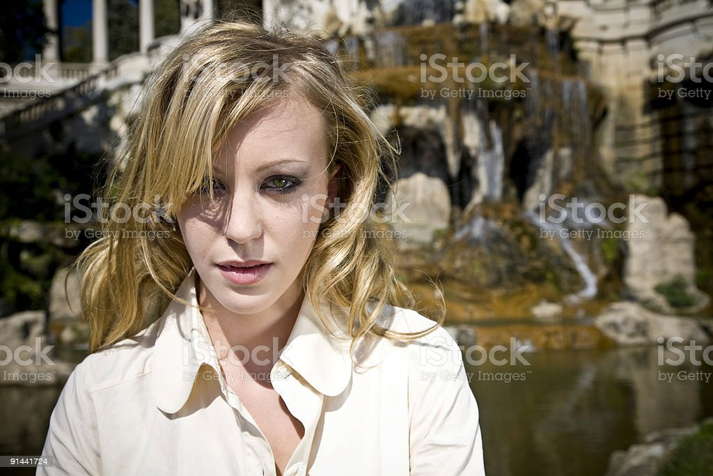 Young French Beauty stock photo
