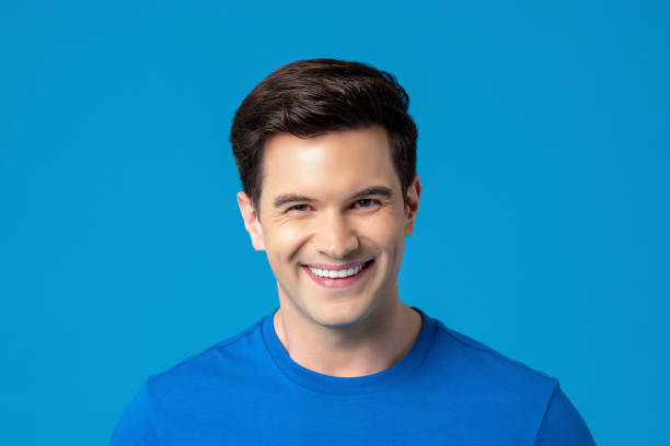 Young friendly smiling caucasian man stock photo