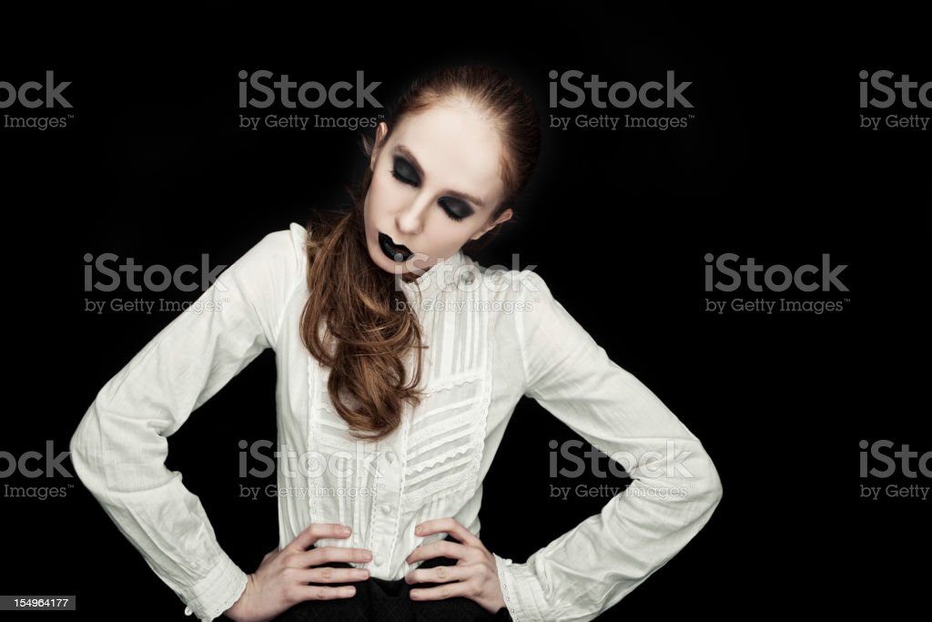 young funky woman indoor portrait royalty-free stock photo