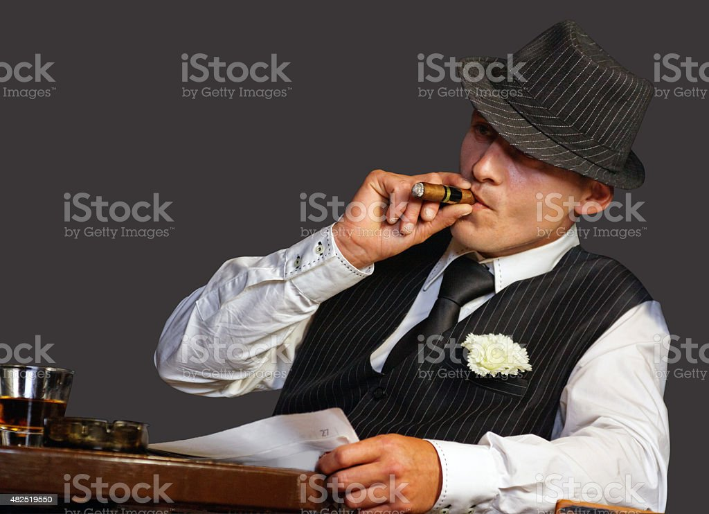Young gangster stock photo