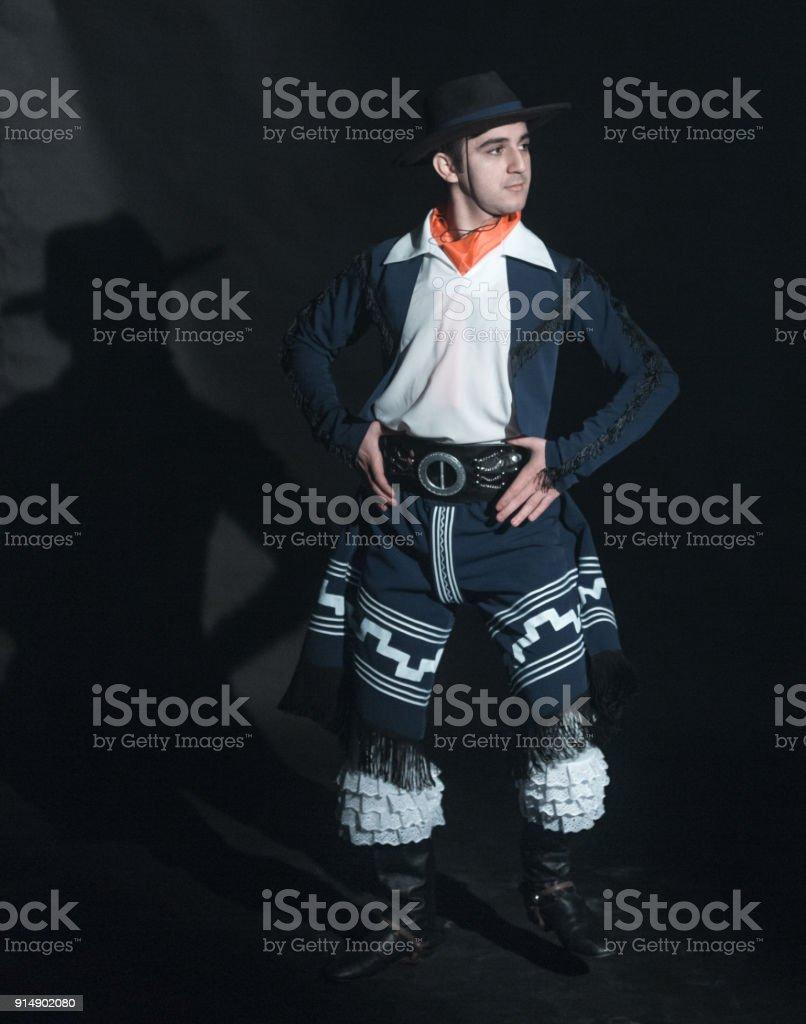 Young Gaucho Dancer stock photo